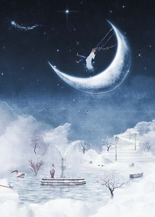 Foggy Winter Night Poster / Kinderposters bij Desenio AB (10277)