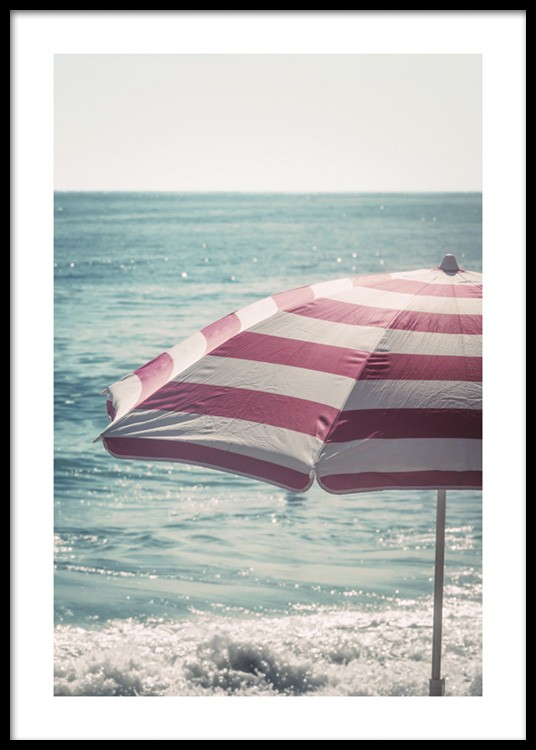 Image of: Beach Umbrella To Beach Umbrella Poster
