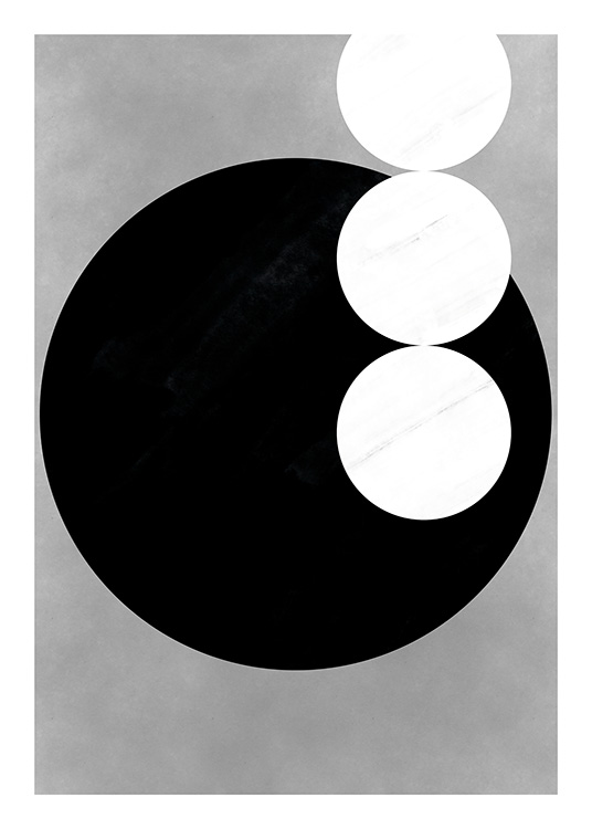 Black & White Shapes No3 Poster / Zwart wit bij Desenio AB (11230)