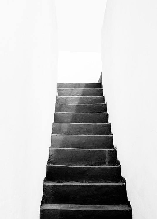 Black and White Stairs Poster / Zwart wit bij Desenio AB (11484)