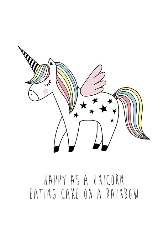 Cake on a Rainbow Poster / Kinderposters bij Desenio AB (11898)