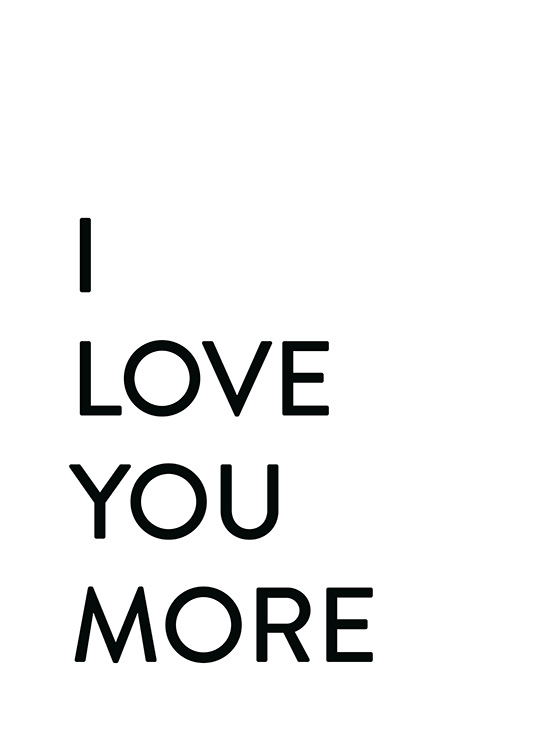 Each Day I Love You No2 Poster / Posters met tekst bij Desenio AB (12009)