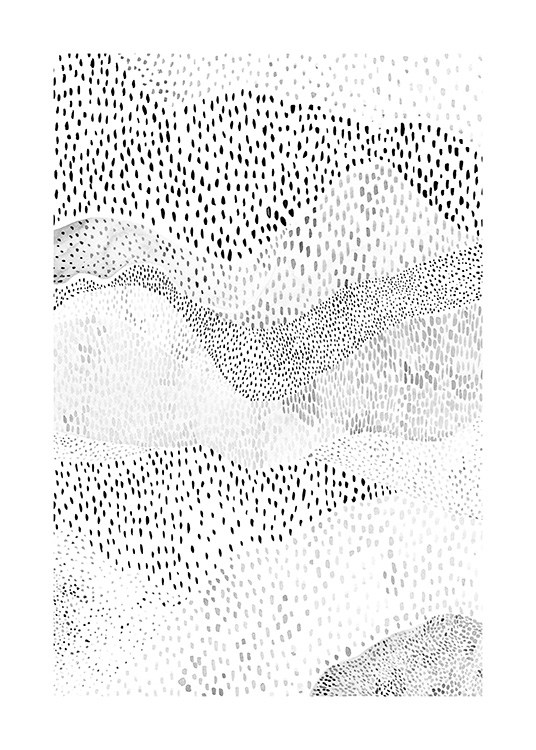 Dotted Mountains Poster / Kunst bij Desenio AB (12502)