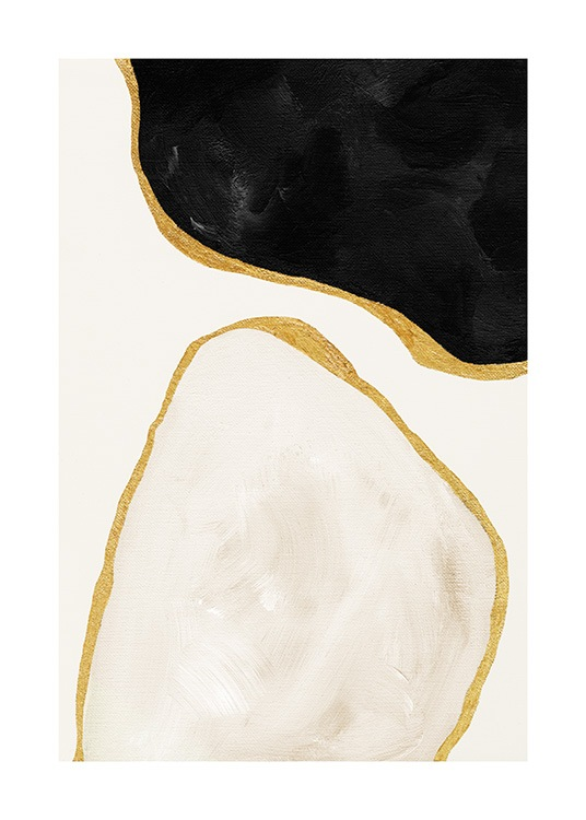 Gilded Shapes No1 Poster / Abstracte kunst bij Desenio AB (13811)