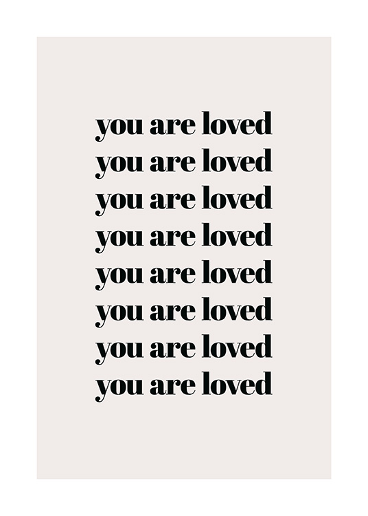 You Are Loved Repeat Poster / Posters met tekst bij Desenio AB (13825)