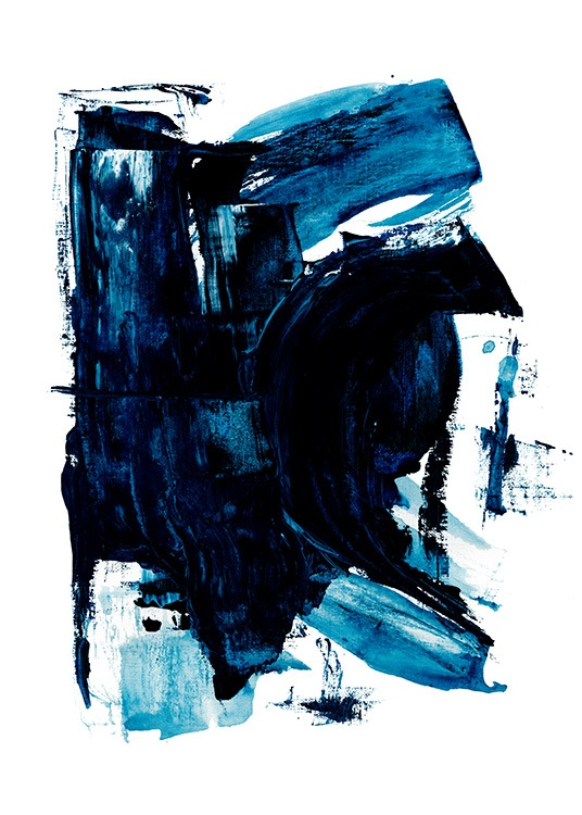 Blue Painting No2 Poster / Abstracte kunst bij Desenio AB (13842)