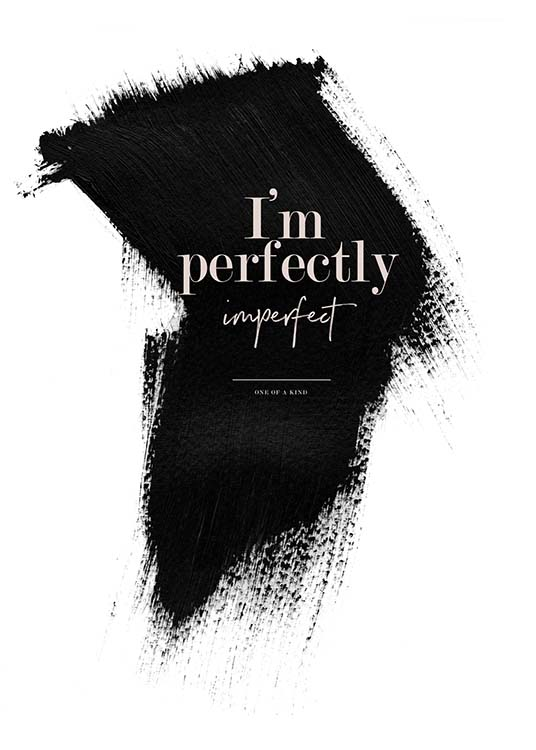 Perfectly Imperfect Poster / Posters met tekst bij Desenio AB (3938)