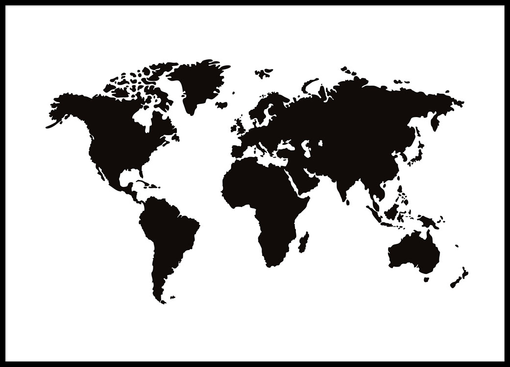 World map poster black and white posters with maps world map world map poster black and white posters with maps world map poster contemporary black grey style 915 x 61cms amazoncom world map contemporary poster art gumiabroncs Choice Image
