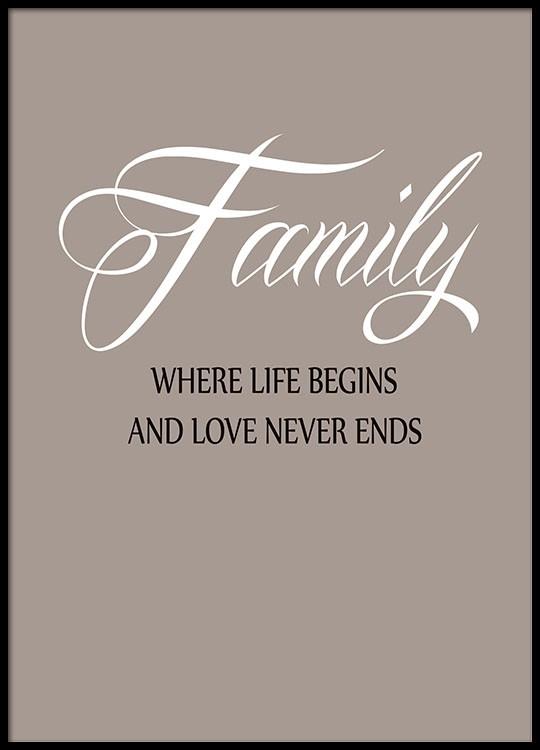 Vaak Mooie posters met tekst met family quote @II57