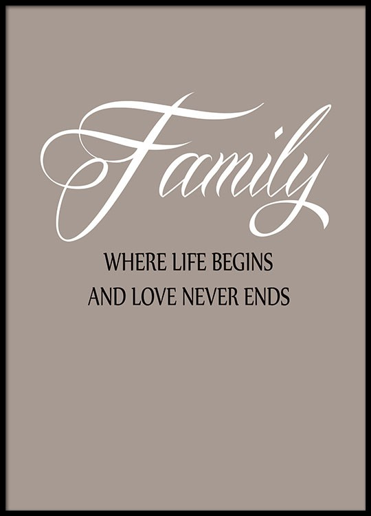 Favoriete Mooie posters met tekst met family quote @TA-52