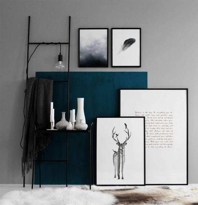 Slaapkamer Zwart Wit Zilver : 30X40 Black and White Wall Art