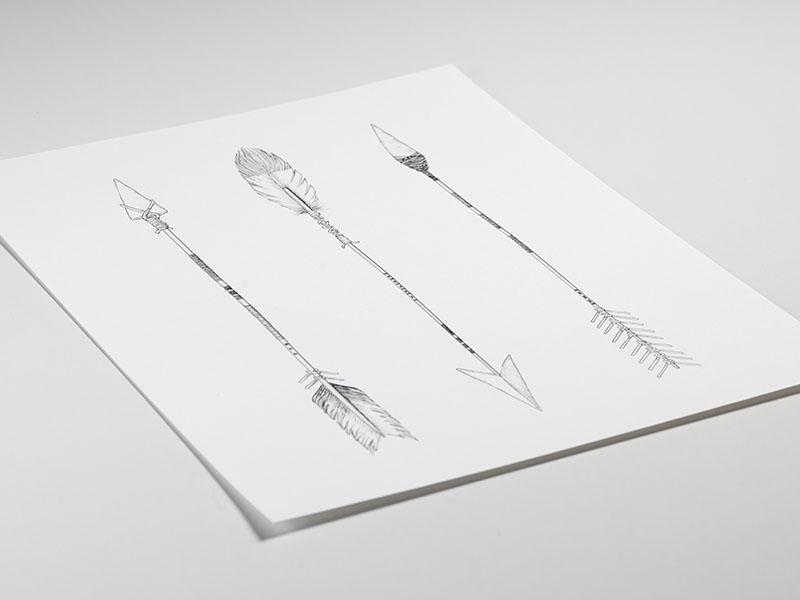 Slaapkamer Zwart Wit Zilver : Zwart-wit poster met vintage pijlen ...
