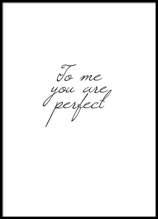 Poster Met Mooie Tekst You Are Perfect Quote Posters Met Tekst