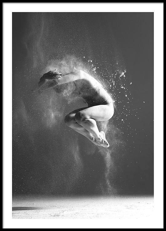 Beroemd Zwart-wit poster met fotokunst | Poster met foto voor stijlvol #CD85