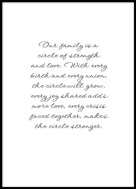 Voorkeur Poster met quote over familie | Prints online | Desenio #OT93
