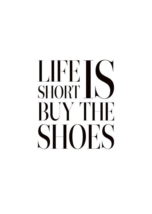 Buy The Shoes, Poster / Posters met tekst bij Desenio AB (8343)