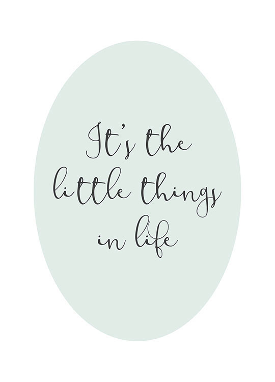 The Little Things Poster / Kinderposters bij Desenio AB (8868)