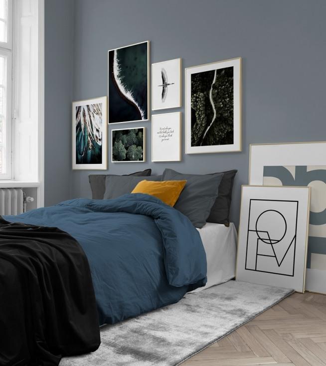 Fotowand in de slaapkamer | Inrichting en posters voor de slaapkamer