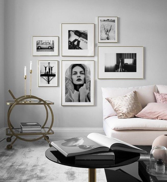 inspiratie voor een zwart wit interieur kunst in zwart wit desenio. Black Bedroom Furniture Sets. Home Design Ideas