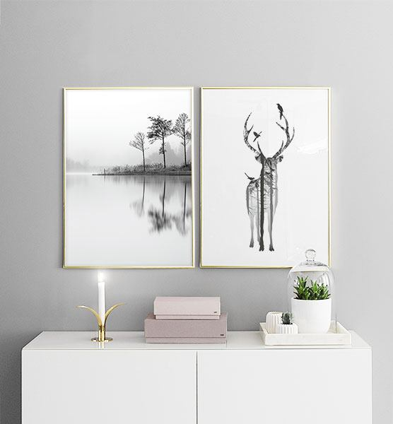 Black And White Paintings For Bedroom Bedroom Sets Black Modern Bedroom Black Bedroom Furniture Sets Pictures: Mooie Posters En Prints Boven Het Bed Of De Bank