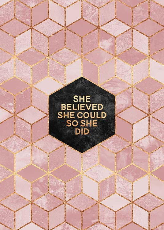 She Believed She Could 2 Poster / Posters met tekst bij Desenio AB (pre0035)