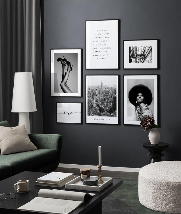 Inspiratie Voor Een Zwart Wit Interieur Kunst In Zwart Wit Desenio